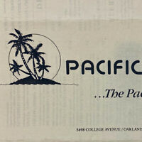 Vintage Pacific Exchange Restaurant Menu College Avenue Oakland BBQ Seafood CA