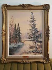 Cole Bowman Canadian Oil Painting Muskoka Vintage Landscape Original signed