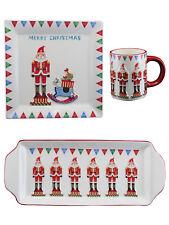 Gisela Graham Christmas Crockery Plate Xmas Nutcracker Solider Festive Tablewear