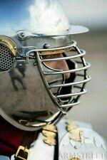 "Cassius"" Roman SCA Helmet, Medieval Armor Helmet, Knights Halloween Costume"