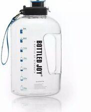 BOTTLED JOY LargeWaterBottle Half Gallon WaterJug Wide Mouth 85 oz 2.5L BP...