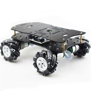 4WD Mecanum Robot Car Smart Car Chassis Kit Load Capacity 10KG 80mm Omni Wheels