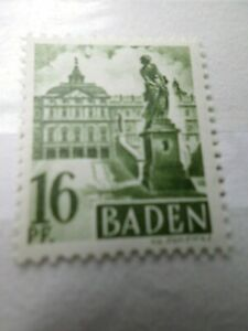 FRANCE 1947 OCCUPATION ALLEMAGNE BADE, timbre n° 6, neuf**, VF STAMP