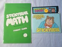 "Stickybear Math 5.25"" Optimum Resource Inc MS-DOS PC IBM Commodore 64 128"