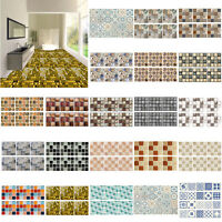 6/20/24pcs Kitchen Bathroom Mosaic Stick On Self Adhesive Wall Tile Stickers