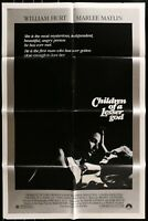 CHILDREN OF A LESSER GOD William Hurt 1986 Vintage FF 1-Sheet Movie Poster 27/41