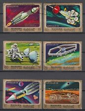 Manama 1970 used Mi.291/96 A Apollo 13 Mond Forschung Research Space Weltraum