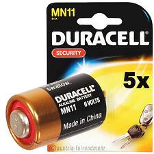 5X MN11 DURACELL SECURITY Batterie 6Volt A11 L1016 11A  LR11