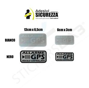 ADESIVI ANTIFURTO SATELLITARE GPS STICKERS AUTO MOTO SCOOTER 2 COLORI ALLARME