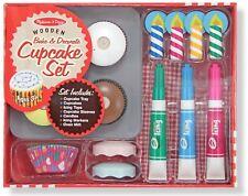 Melissa and Doug Bake & Decorate Cupcake Set - Pretend Play Food