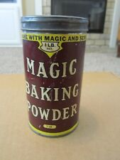 Vintage Antique bMagic BAKING POWDER TIN CAN 1 lb size Canada Old Paper Label