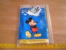 1990's Mickey Mouse Vinyl Waterproof poncho Adult 1 sz fits all unused lot of 2