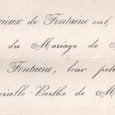 Paul Curieux De Fontaine Bourcany Beuxes Loudun 1867