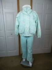 Obermeyer Womens Ski Snow Jacket Size 14 Profile Ski Pants Large Aqua