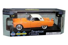 1956 FORD THUNDERBIRD CONVERTIBLE ORANGE DIE CAST BY MOTOR MAX NEW