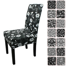 Dining Chair Covers 1/2/4/6/8pcs Floral Print Wedding Party Seat Spandex Cover