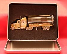 Fame/Tanklastwagen-Uhr/Deko/Gold-Silber/ Geschenk/Funktionsfähig/ Quarz/ OVP