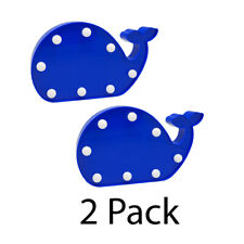 New Cossy Night Light LED Cute Decrative Blue Whales 2 Pack Fun Kids Room Lights