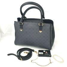Carpisa Black Faux-Leather hand Bag/ shoulder bag