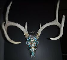 8 Point White Tail Buck, Decorated in Vintage & Modern Jewelry, Very NiceColor!