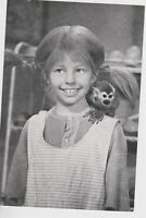 Vintage Pippi Longstocking Photo Swedish Inger Nilsson 1969 B&W Monkey Shoulder
