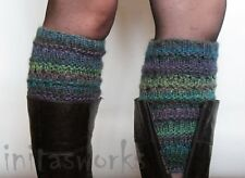 Boot Cuff Boot Toppers Leg Warmers Striped Multicolored Boot Socks Knit