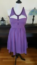 NWT Versace for H&M $250 Purple Silk Cutout Dress Size 12