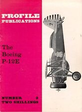 AIRCRAFT PROFILE 2 BOEING P-12E BIPLANE FIGHTER USAAC PURSUIT GROUP MARCH FIELD