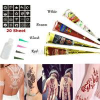 29 In 1 Natural Herbal Henna Cones Temporary Tattoo Set Body Art Mehandi Ink Kit