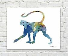 Spider Monkey Abstract Watercolor Painting Art Print by Artist DJ Rogers