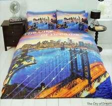 Bettwäsche New York City of Dreams Bettgarnitur 135x200/50x75 cm Fotodruck