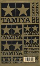 Tamiya Logo Sticker Sheet - GOLD for RC car & truck bodies.