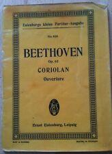 Beethoven Coriolan ouverture taschenpartitur