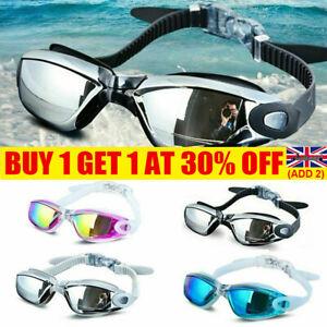 Anti Fog Swimming Goggles UV Diving Glasses Adjustable Adult Kids YE