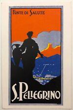 FONTE DI SALUTE S. PELLEGRINO cartolina pubblicitaria illustratore TAMI