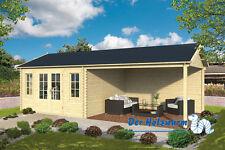 44 mm Gartenhaus Kwaspa ISO ca. 800x400cm Blockhütte Holzhaus Hütte Schleppdach