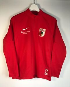 FC AUGSBURG Stadtsparkasse Football Nike Soccer Jersey Quarter Zip Youth