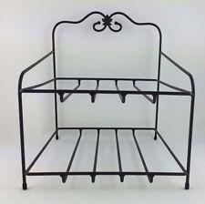 Longaberger Wrought Iron Paper Tray Stand Bin Foundry