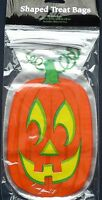 20 x Halloween Pumpkin Party Loot Bags Cello treat favour bags  trick or treat