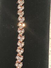 7CT Diamond Tennis Bracelet in Rose Gold 7 inches
