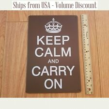 KCCO Keep Calm and Carry On Sign Keep Calm and Carry On Metal Parking Sign Tin