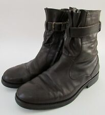 Dries Van Noten Buckle Leather Chelsea/Chukka Boots 42/ 9 Made in Italy