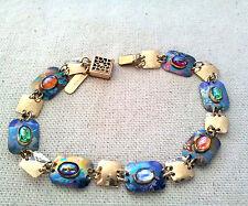 HOLLY YASHI Bracelet, Blue & purple Niobium & multi color gemstones - Stunning