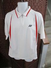 Men's Yonex Polo Shirt Tennis Badminton 1/4 Zip Size Xl White