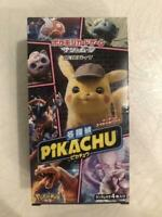 Japanese Pokemon Cards Detective Pikachu Factry Sealed Box Sticker toy