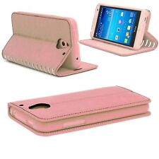 Luxury Slim Leather Stylish  Wallet Card Case Cover for Huawei P20 Lite (Rose )