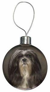 Lhasa Apso Dog Christmas Tree Bauble Decoration Gift, AD-LAP1CB