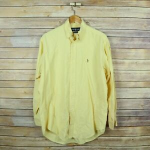 RALPH LAUREN Men's Yarmouth Oxford Button Shirt SIZE 15 1/2 - 33 Yellow
