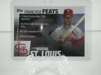 Topps 2019 Series 2 Baseball Card # FF-27 Stan Musial Cardinals Franchise Feats