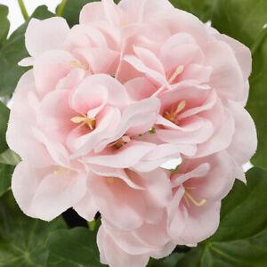 Artificial Geranium Pink Potted Plants In / Out door Wild Flowers Fejka Herb